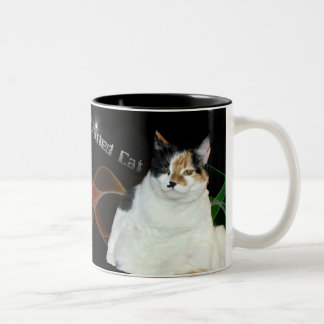Drink From The Fatted Cat Two-Tone Coffee Mug