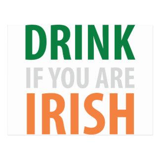 drink if you are irish postcard