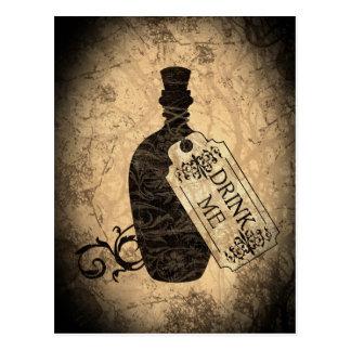 Drink Me Bottle Postcard