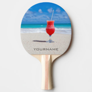 Drink On Beach custom ping pong paddle