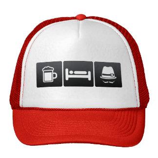 Drink, Sleep and Fedoras Trucker Hat
