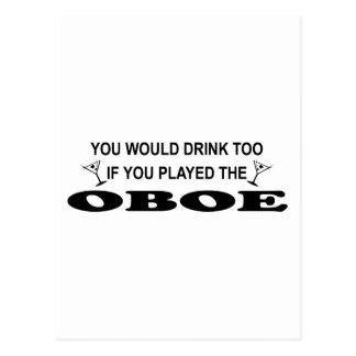 Drink Too - Oboe Postcard