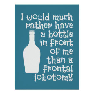 Drinking humor custom color poster