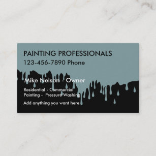 Sandblast business cards zazzle nz dripping paint painter theme business card reheart Choice Image