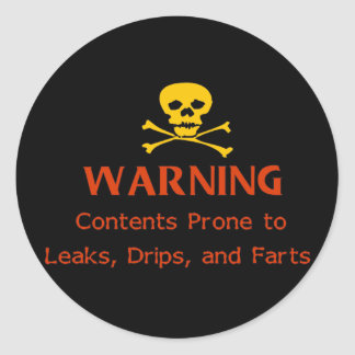 Drips and Leaks Classic Round Sticker