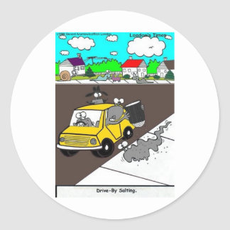 Drive-By Salting Slug Gangs Funny Gifts & Tees Stickers