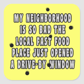Drive-By Window Square Sticker