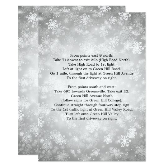 Driving Directions Silver Winter Wonderland Card