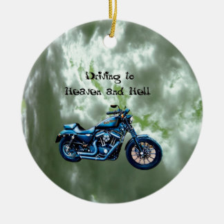Driving to Heaven and Hell Ornament