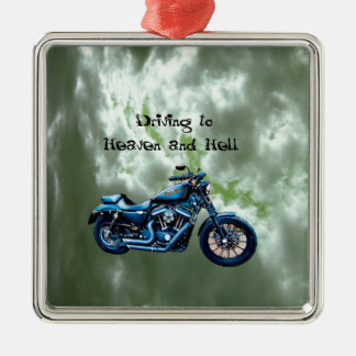 Driving to Heaven and Hell Ornaments