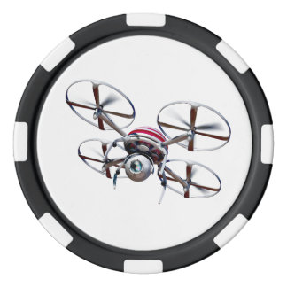 Drone quadrocopter poker chips