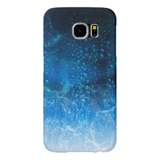 Drops Of Water On A Blue Abstract Background Samsung Galaxy S6 Cases