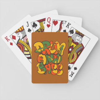 drum and bass reggae color - logo, graffiti, sign playing cards