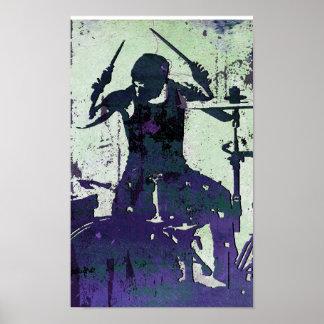 Drummer 5, Copyright Karen J Williams Poster