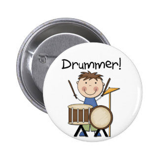 Drummer - Male Tshirts and Gifts Pin