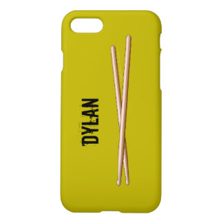Drumsticks iphone 7 Case for Drummers Personalized