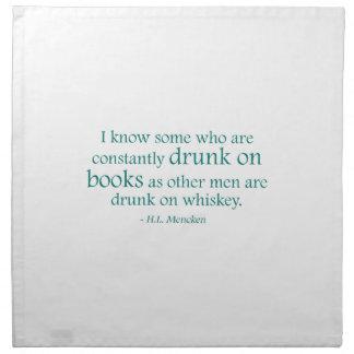 Drunk On Books Printed Napkin