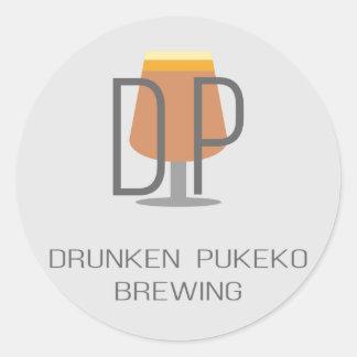 Drunken Pukeko Logo Stickers