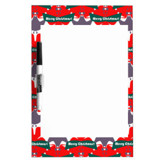 Dry Erase Board with Christmas Design