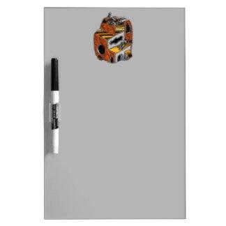 Dry Erase Board with Metallic Art Header