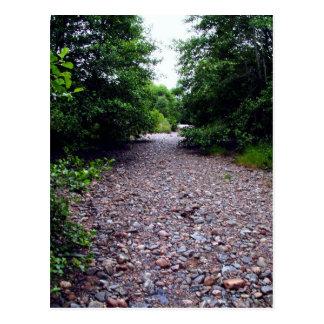 Dry River Bed Scottish Highlands Postcard