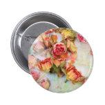 Dry roses vintage design pins
