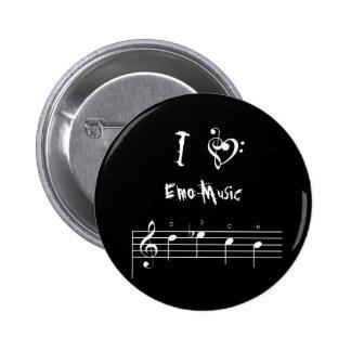 dsch, treblebassheart, I, Emo Music 6 Cm Round Badge