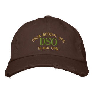 DSO Black Ops Cap Embroidered Baseball Cap
