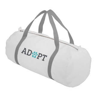 DTDR Adopt Duffle Bag, white Gym Duffel Bag