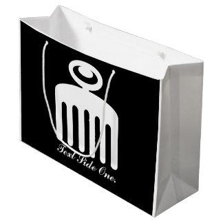Duafe | Adinkra Symbol for Feminine Beauty Large Gift Bag