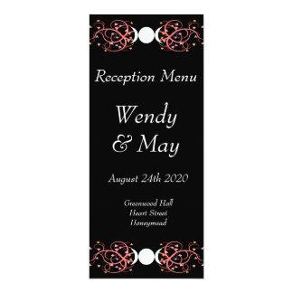Dual Goddess Lesbian Handfasting Reception Menu Card
