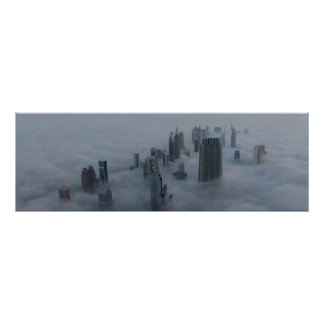 Dubai above the clouds poster