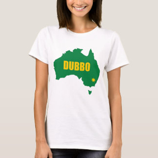 Dubbo Green and Gold Map T-Shirt
