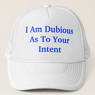 dubious intent hat
