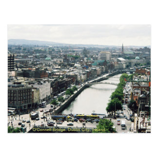 Dublin city skyline, O'Connell Bridge Postcard