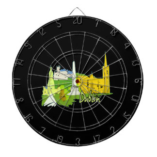 dublin ireland watercolour city graphic.png dartboard