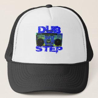 Dubstep Blue Boombox Trucker Hat