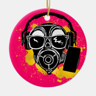 Dubstep Gasmask Christmas Ornament