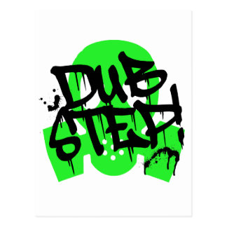 Dubstep Green Gasmask Postcard