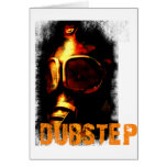 Dubstep Orange Gas Mask Greeting Card