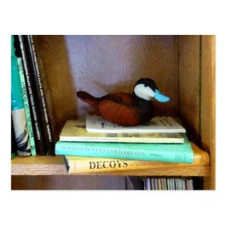 Duck Decoy on Bookshelf Post Cards