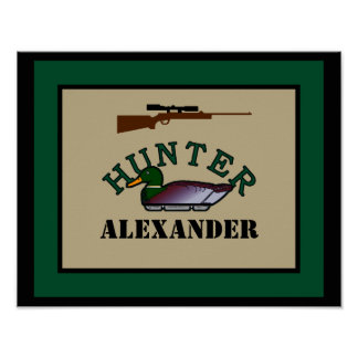 Duck Hunter-Personalized Poster