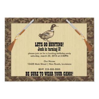 Duck Hunting Birthday 13 Cm X 18 Cm Invitation Card
