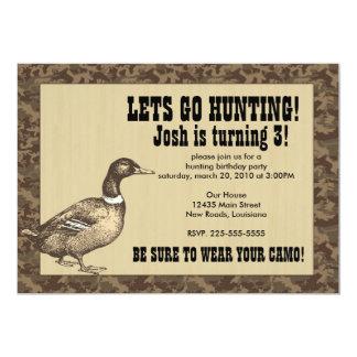 Duck Hunting Birthday Card