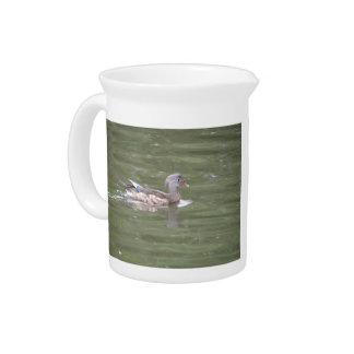 Duck on the Lake Pitcher