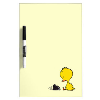 Duck & telephone dry erase white board