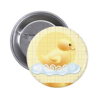 duckie-baby-shower 6 cm round badge