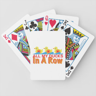 Ducks In A Row Bicycle Playing Cards
