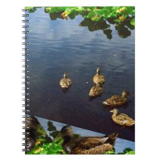 DUCKS pond nature printed gifts KIDS love bird pet Spiral Notebook
