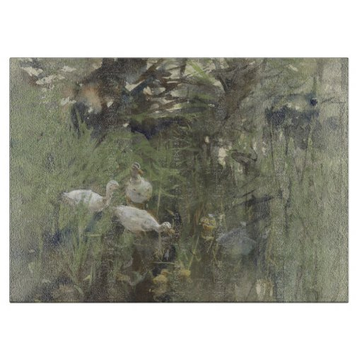 Ducks under the willows, Willem Maris Cutting Boards